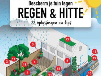 Regen en hitte klimaatvriendelijke tuin