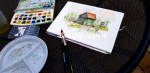 Watercolour Garden Cottage