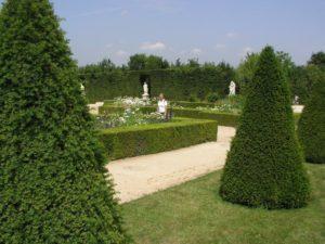 Franse kasteeltuin met taxus
