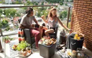 Tuinhappy - loungeset op balkon