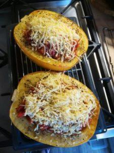 Spaghetti pompoen uit de oven