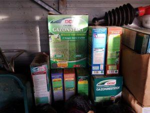 Opslag meststoffen tuinschuurtje tuinhuis - tuinblogger - tuinhappy