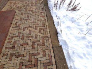 Sneeuwvrij terras