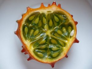 Vrucht hoornkomkommer Kiwano