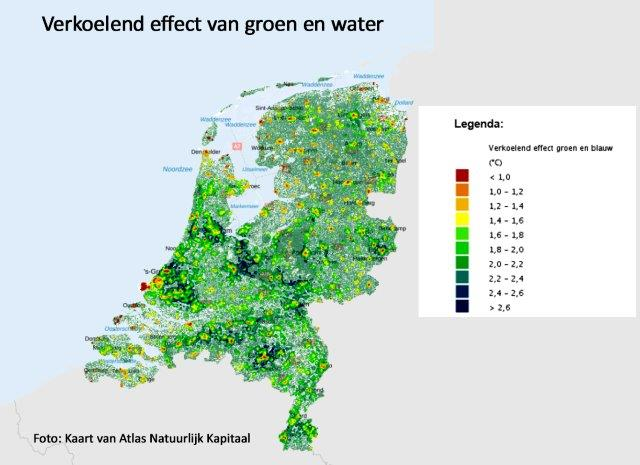 Verkoelend effect van groen en water